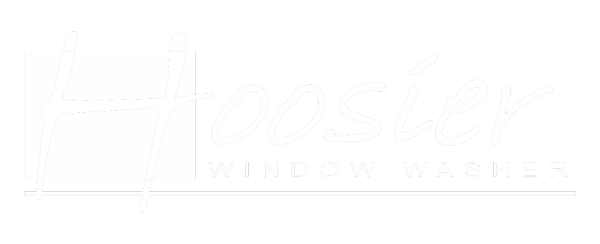 Hoosier Window Washer Logo White