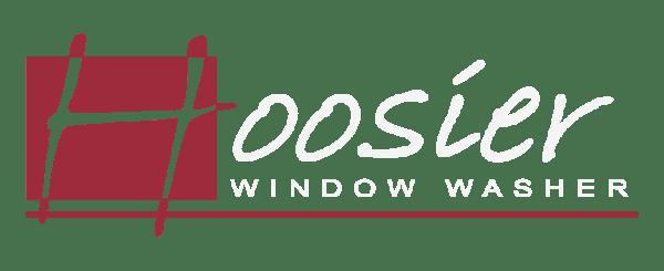 Hoosier Window Washer White Text Logo